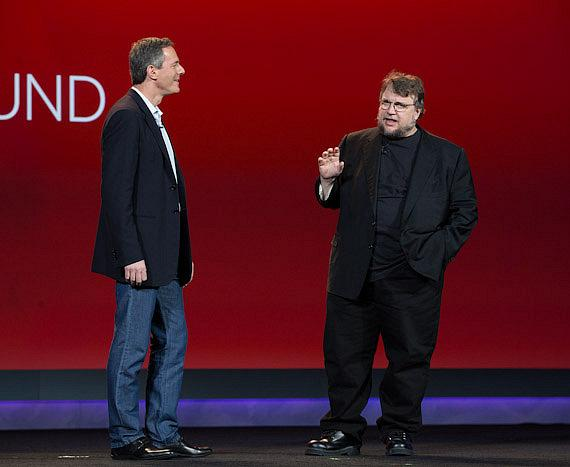 Dr. Paul E. Jacobs with Director Guillermo del Toro