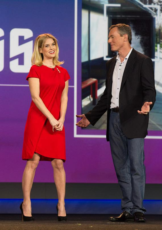 Alice Eve with Dr. Paul E. Jacobs