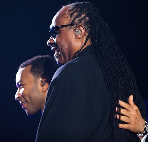 John Legend and Stevie Wonder