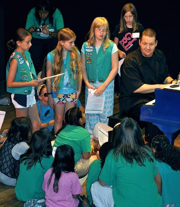 Girl Scouts Perform with Ryan Ahern, Star of Piano! Las Vegas