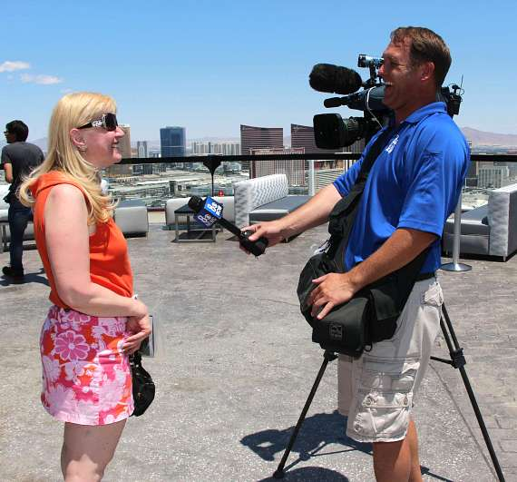 Marie Kuzma talks to a reported from Channel 8 CBS News
