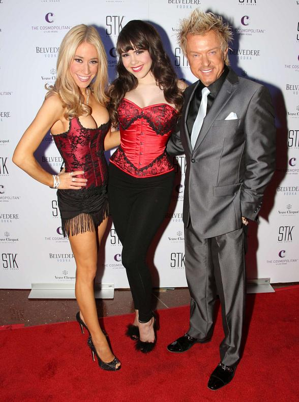 Lydia Ansel and Chris Phillips of Zowie Bowie with Claire Sinclair (center)