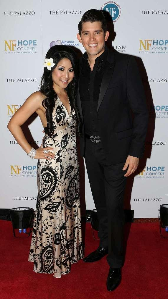 American Idol star Jasmine Trias  and British singing sensation Ben Stone walk the red carpet at NF Hope Concert