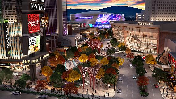 Artist's rendering of new 5,000-seat Theater at Monte Carlo