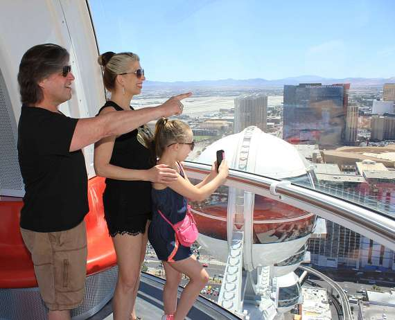 Bucky Heard of Righteous Brothers and his family take in the views of Las Vegas from atop the High Roller