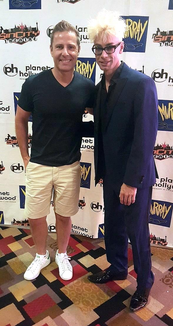 """Paul Zerdin visits """"Murray 'Celebrity Magician'"""" at Planet Hollywood Resort and Casino"""