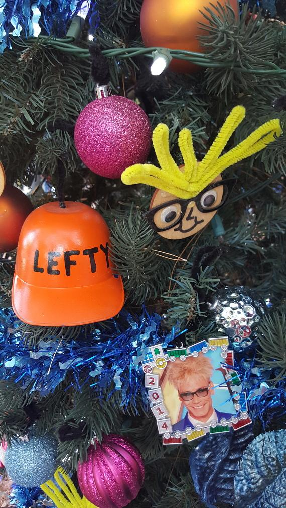 Ornaments on the MURRAY 'Celebrity Magician' Christmas Tree