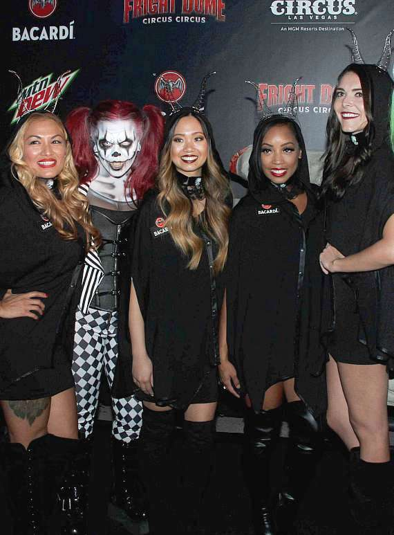 The Ladies of Bacardi at Fright Dome in Las Vegas