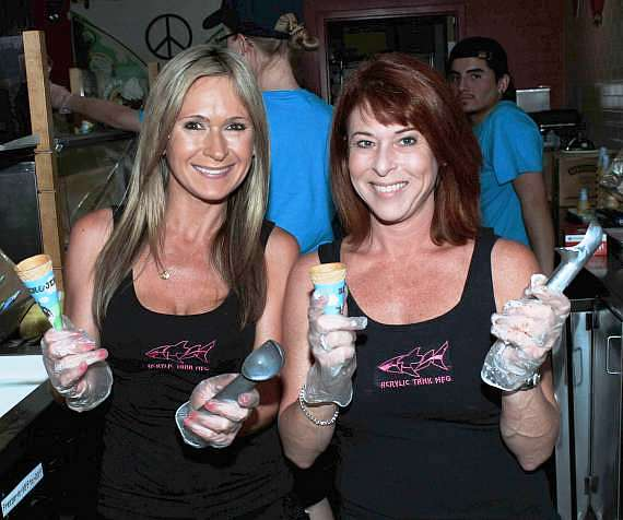 """Agnes Wilczynski and Heather King of """"Tanked"""" at Ben & Jerry's"""