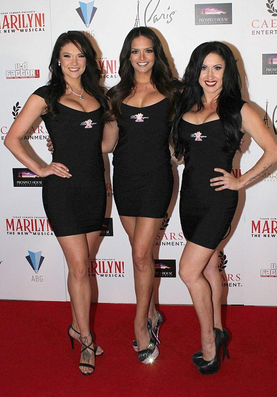 """Cast of """"X Burlesque"""" at """"Marilyn! The New Musical"""""""