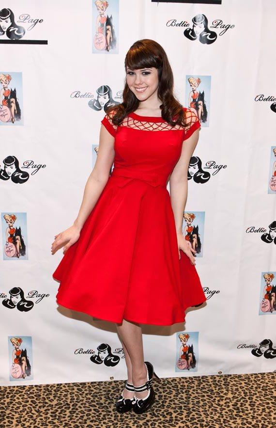 Claire Sinclair at Bettie Page Clothing at MAGIC