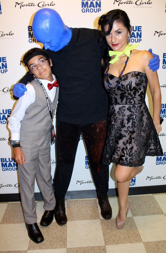 Melody Sweets visits Blue Man Group in Monte Carlo Resort and Casino