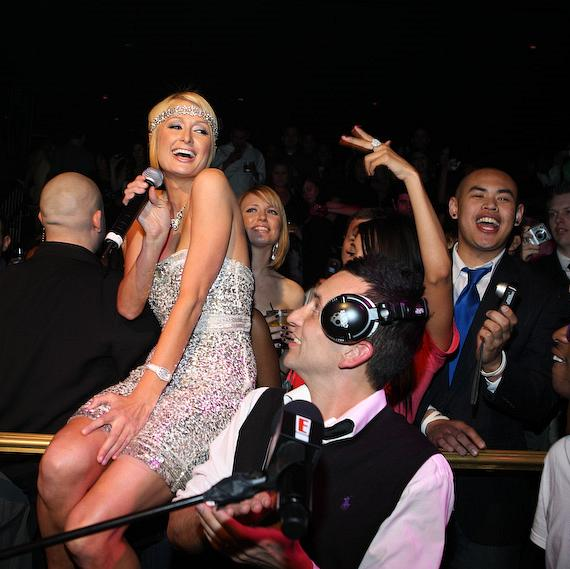 Paris Hilton and DJ Clinton Sparks