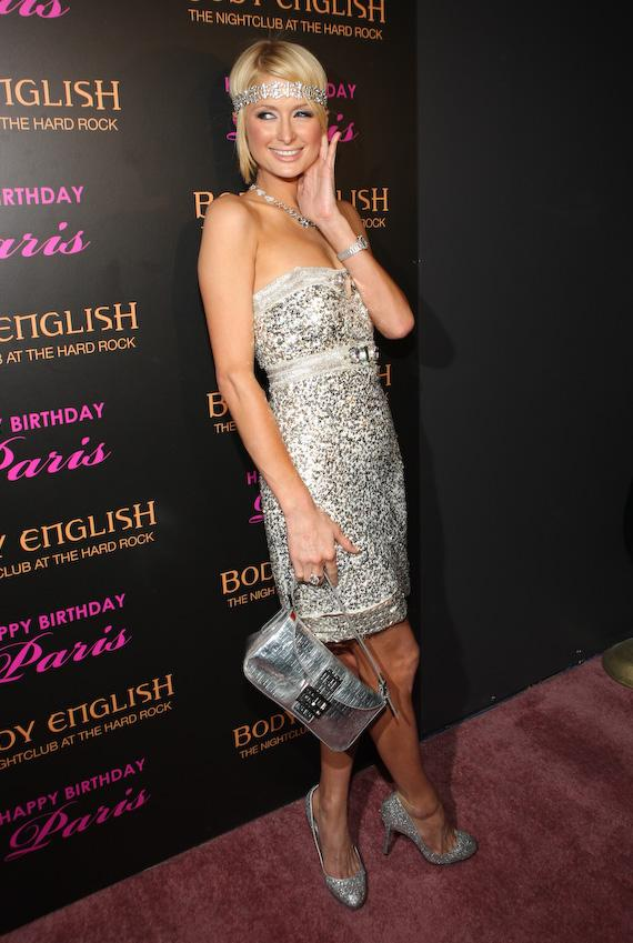 Paris Hilton hits the red carpet at Body English at Hard Rock Hotel & Casino