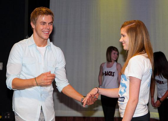 """Dancing With The Stars"" champion Derek Hough gives a dance lesson to CCSD students"