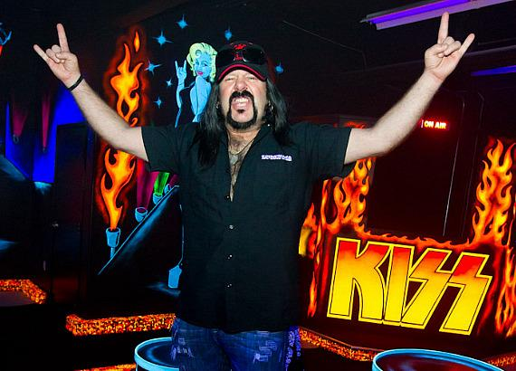 Vinnie Paul at KISS by Monster Mini Golf