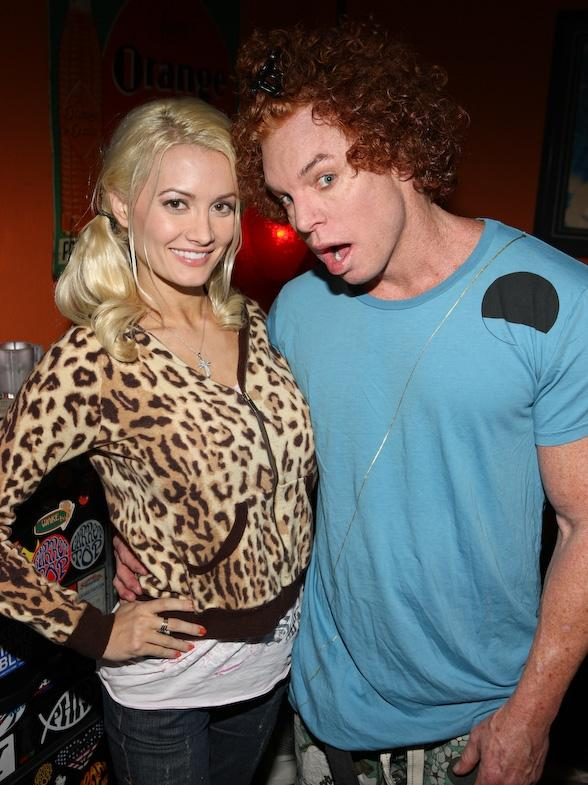 Holly Madison and Carrot Top at Luxor
