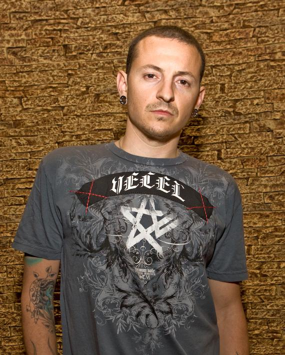 Chester Bennington in Club Tattoo at Planet Hollywood