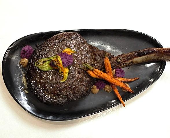 40-Day Dry Aged Tomahawk with Truffle Butter at Blume in Henderson