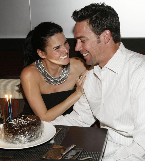 Jason Sehorn celebrates birthday with Angie Harmon at Wolfgang Puck's CUT