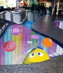 3D drawing on the sidewalk outside the M&M's store