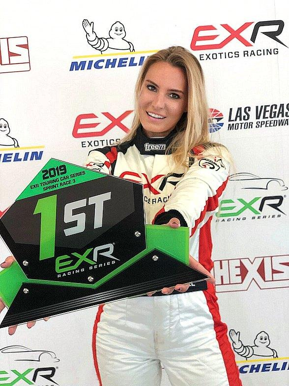 Doreen Seidel Becomes 1st Female to Win in the EXR Series at Exotics Racing Las Vegas