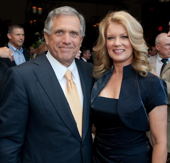 CBS President & CEO Leslie Moonves and Mary Hart