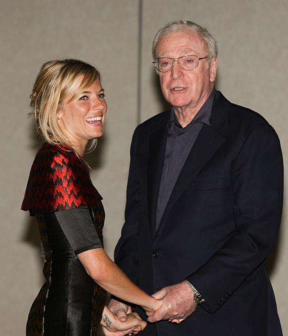 Sienna Miller and Michael Caine