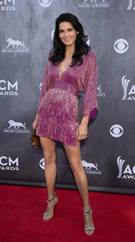 Actress Angie Harmon at 49th ACM Awards in Las Vegas