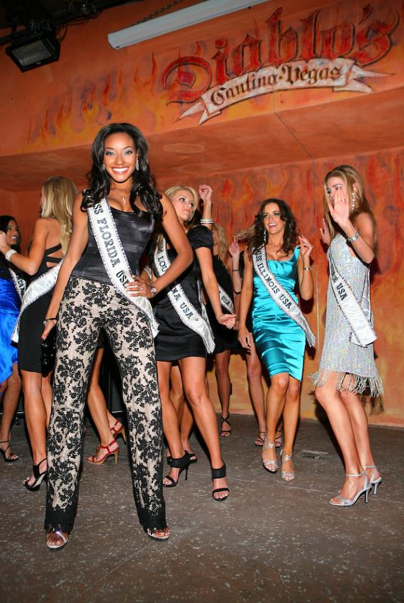 Miss USA contestants party at Diablo's Cantina at Monte Carlo in Las Vegas