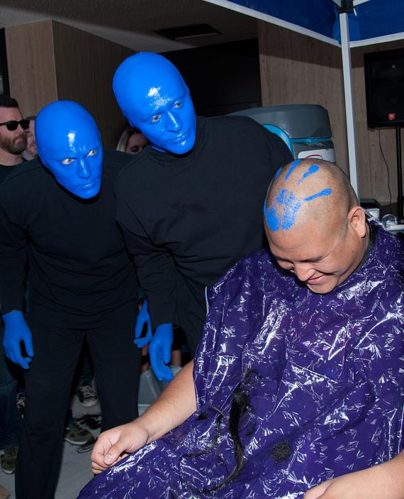 Blue Man Group at ShoeZaphone Unveiling