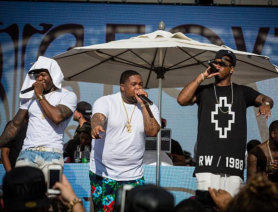 50 Cent, DJ Mustard and Jeremih give exclusive performance at Foxtail Pool Club during FIght Weekend