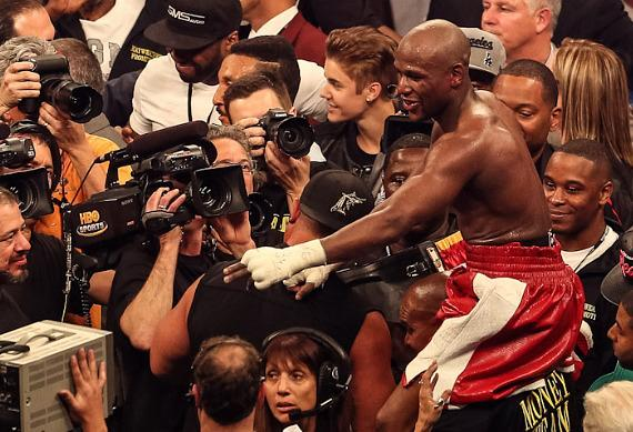 Mayweather after winning decision over Cotto