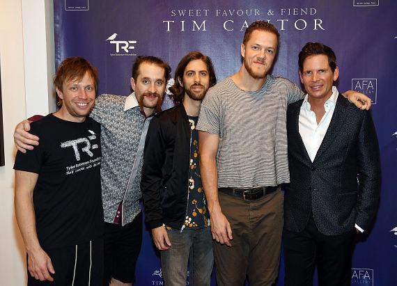 "Imagine Dragons and ""Pawn Stars"" Rick Harrison attend Artist Tim Cantor's Las Vegas Art Exhibit at AFA Gallery"