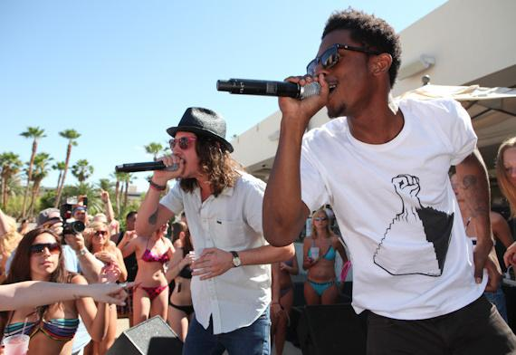 Cisco Adler and Shwayze at Wet Republic