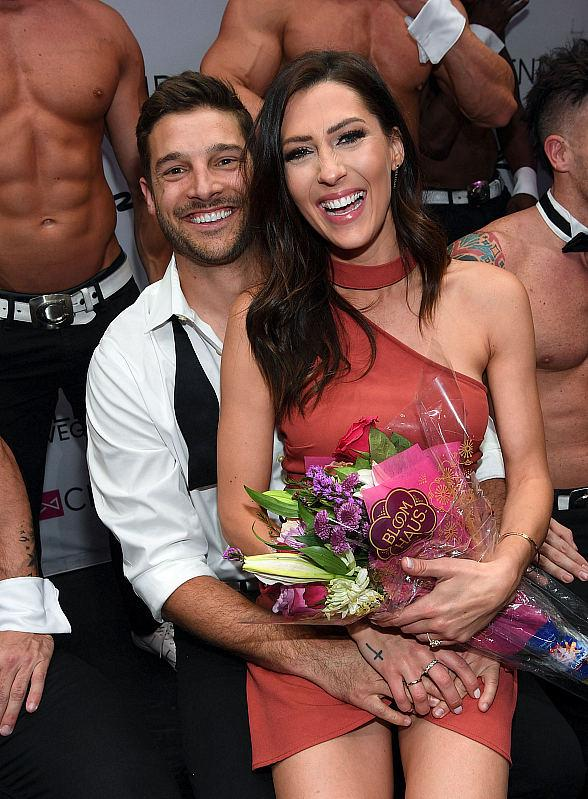 """""""The Bachelorette"""" Winner Garrett Yrigoyen Strips down at Chippendales at Rio All-Suite Hotel & Casino in Las Vegas for One Night Only - Joined by Becca Kufrin"""