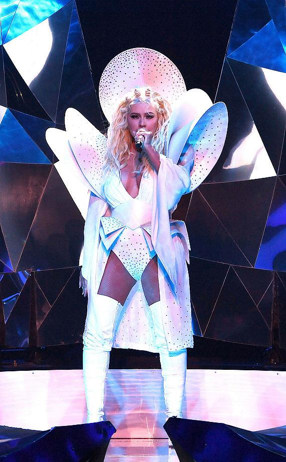 """Christina Aguilera Celebrates Grand Opening of Her New Las Vegas Show """"Christina Aguilera: The Xperience"""" at Planet Hollywood Resort & Casino"""