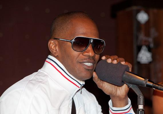 Jamie Foxx hosts Foxxhole Radio show at The Hard Rock