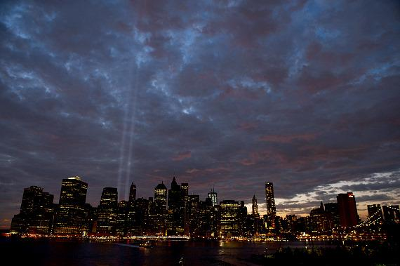 """""""The Tribute In Light"""" at the World Trade Center"""