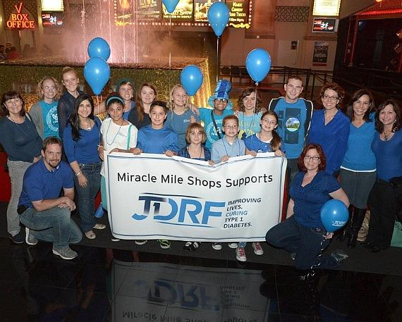 A group of JDRF youth ambassadors