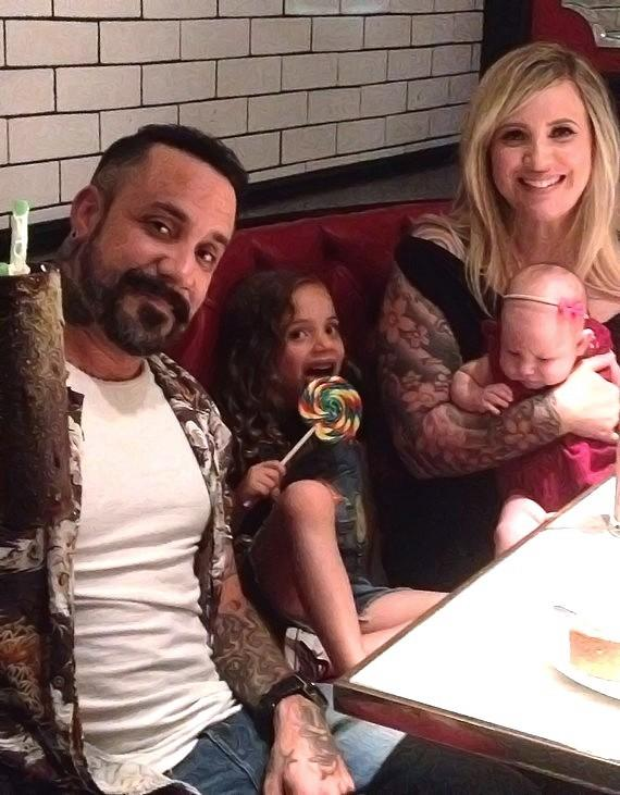 AJ McLean from Backstreet Boys with family at Sugar Factory Las Vegas