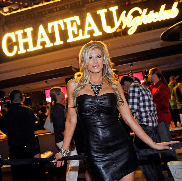 Real Housewife of Orange County Alexis Bellino celebrates anniversary at Chateau Nightclub