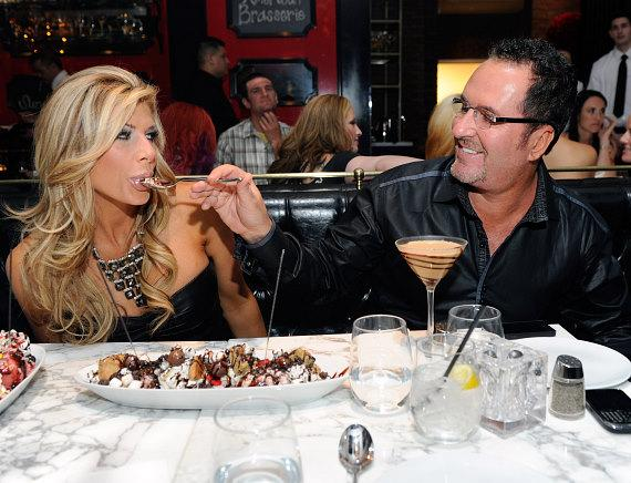 """Real Housewives of Orange County"" star Alexis Bellino, along with husband Jim Bellino, dine at Sugar Factory American Brasserie at Paris Las Vegas"