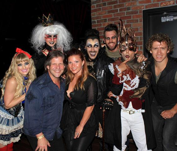 "Bucky Heard with McKenna Medley (Bill Medley's daughter). McKenna's husband is on the far right with cast members ""ALICE: A Steampunk Concert Fantasy"""