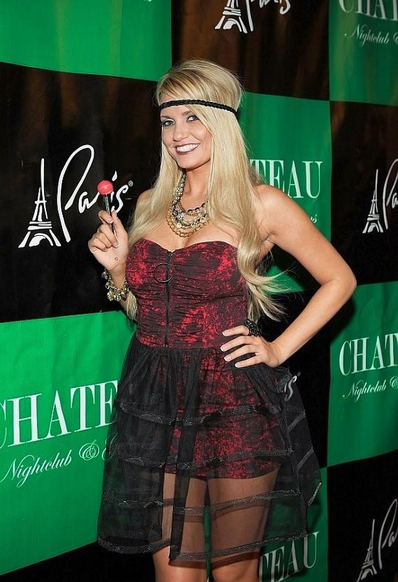Angel Porrino on the red carpet at Chateau Nightclub & Gardens
