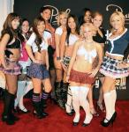 Angel Porrino with sexy school girls at Posh Boutique Nightclub