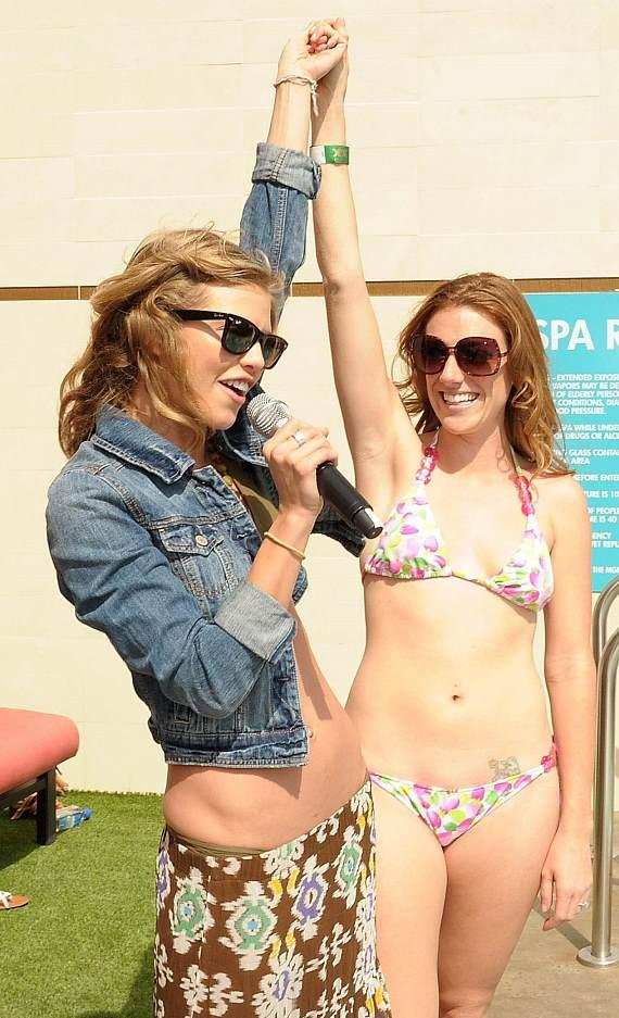 AnnaLynne McCord and Sara Oriolo at WET REPUBLIC