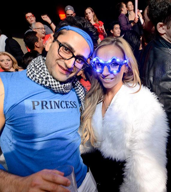 Antonio Esfandiari and Friend at Marquee Nightclub