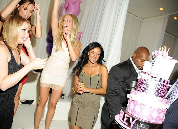 Ashley Tisdale with birthday cake at PURE Nightclub