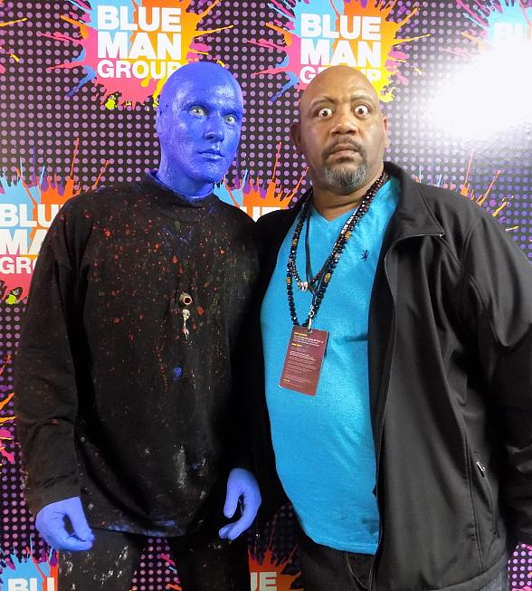 Nickelodeon's Bubba Ganter Visited Blue Man Group at Luxor Hotel and Casino in Las Vegas